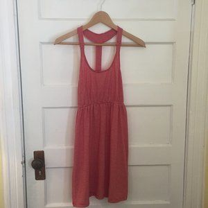 4/$25 - Red & white striped halter dress - size XS